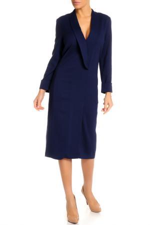 Платье UNQ. Цвет: темно-синий
