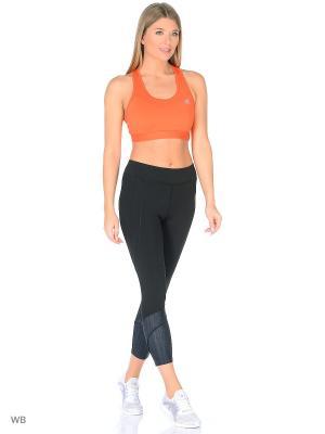 Спортивный бюстгальтер жен. TF BRA - SOLID ENERGY/MSILVE Adidas. Цвет: оранжевый