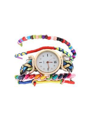 Браслет-часы Olere. Цвет: желтый, зеленый, синий