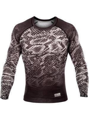 Компрессионная футболка Venum Tropical Black/Grey L/S. Цвет: черный, серый
