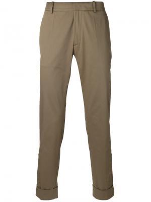 Прямые брюки Antonio Marras. Цвет: зелёный