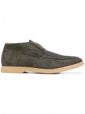 Hi-top loafers Andrea Ventura. Цвет: зелёный
