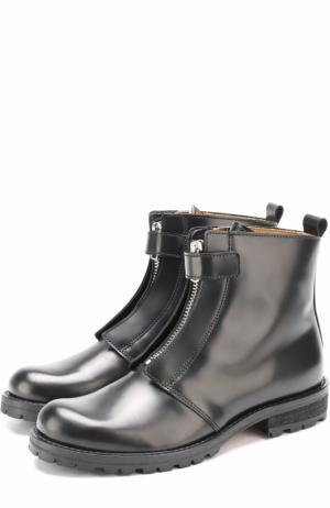 Высокие кожаные ботинки на молнии Gallucci. Цвет: черный