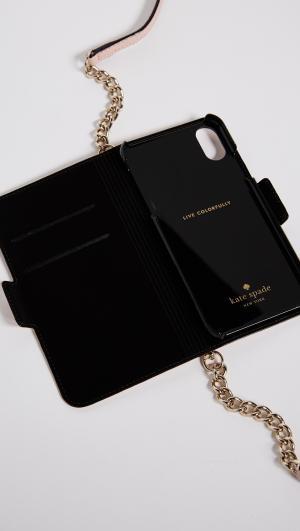 Folio Cross Body iPhone X Case Kate Spade New York