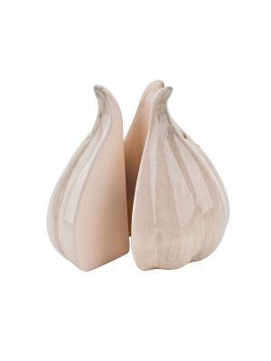 Набор солонка и перечница Чеснок-Бабушкины соленья Elff Ceramics. Цвет: белый