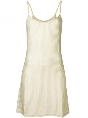 Платье cami Each X Other. Цвет: металлический