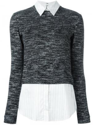 Меланжевый свитер Alice+Olivia. Цвет: чёрный