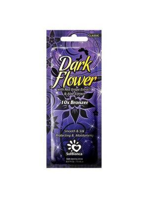 Крем для загара в солярии  Dark Flower с экстрактами винограда, алоэ и бронзаторами. Solbianca. Цвет: бежевый