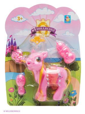 Пони-малышка с аксессуарами Пониландия 1Toy. Цвет: розовый