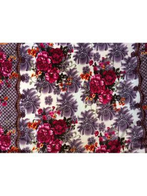 Плед велсофт 170*210 Dream time. Цвет: фиолетовый, малиновый
