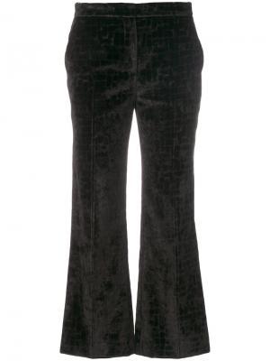 Широкие укороченные брюки  LAutre Chose L'Autre. Цвет: чёрный