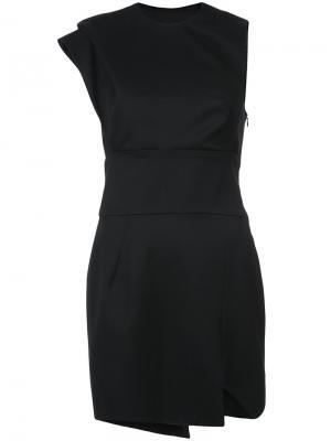 Асимметричное мини-платье Alexandre Vauthier. Цвет: чёрный
