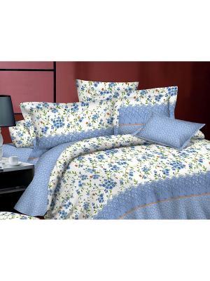Комплект постельного белья 2 сп., поплин BegAl. Цвет: голубой