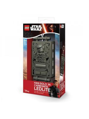 Брелок-фонарик для ключей LEGO Star Wars (Звёздные Войны)-Han Solo (Хан Соло) в карбоните. Цвет: серо-коричневый