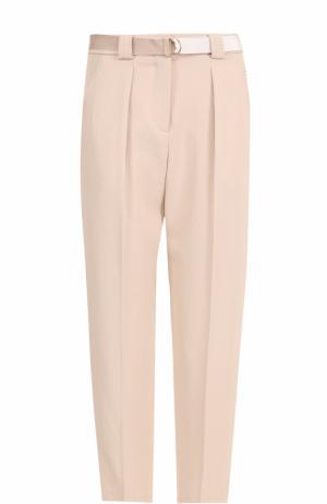 Укороченные брюки прямого кроя с защипами Tara Jarmon. Цвет: бежевый