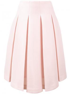 Асимметричная юбка плиссе Simone Rocha. Цвет: розовый и фиолетовый