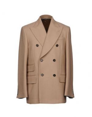 Пальто DOLCE & GABBANA. Цвет: песочный