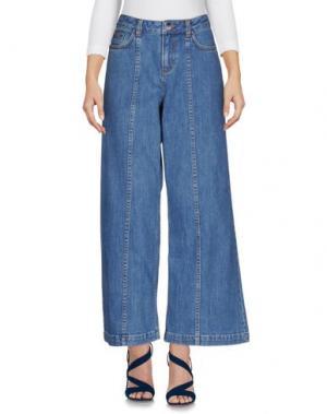 Джинсовые брюки SALONI. Цвет: синий