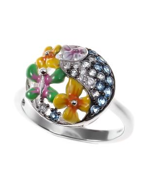 Кольцо Teosa. Цвет: серебристый
