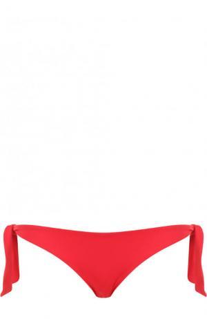 Однотонные плавки-бикини с бантами Ritratti Milano. Цвет: красный