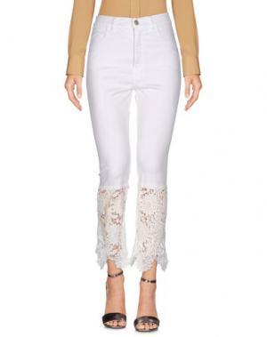 Повседневные брюки DENNY ROSE. Цвет: белый