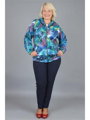Куртка NadiN. Цвет: синий, зеленый
