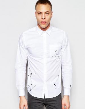 Izzue Рубашка с вышивкой в виде брызг. Цвет: белый