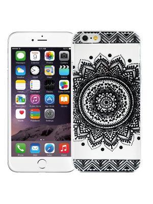 Чехол для iPhone 6/6s Мехенди Круг (черный) Kawaii Factory. Цвет: черный, розовый