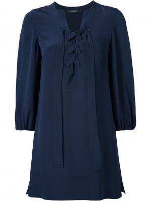 Платье с крупной шнуровкой Derek Lam. Цвет: синий