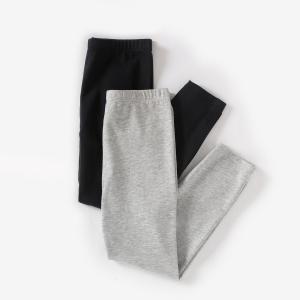 Леггинсы короткие (комплект из 2) 10-16 лет R édition. Цвет: черный + серый меланж