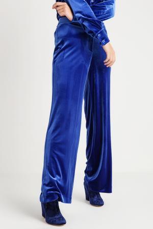 Расклешенные брюки BGN. Цвет: синий