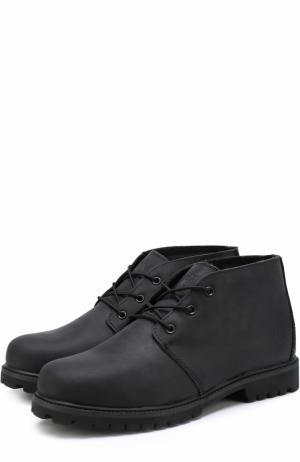 Кожаные ботинки Tibet на шнуровке Affex. Цвет: черный