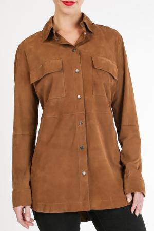 Рубашка Cruse. Цвет: коричневый