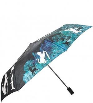 Складной зонт с куполом из полиэстера FLIORAJ. Цвет: черный
