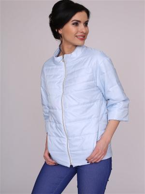 Куртка nasha. Цвет: светло-голубой