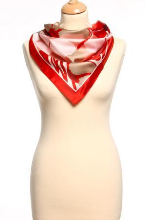 Платок Esprit. Цвет: красный, розовый