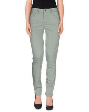 Повседневные брюки REBEL QUEEN. Цвет: зеленый