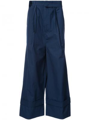 Свободные брюки с высокой талией Craig Green. Цвет: синий