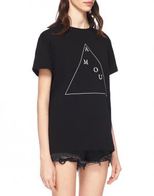 Хлопковая футболка Etre Cecile. Цвет: черный