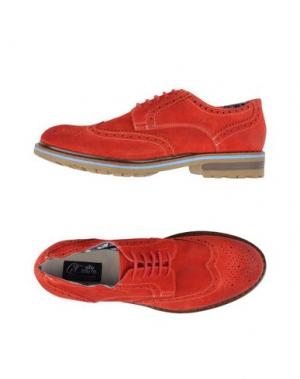 Обувь на шнурках LE CROWN. Цвет: красный