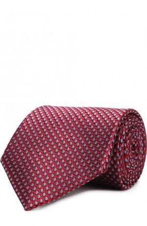 Шелковый галстук с узором Lanvin. Цвет: красный