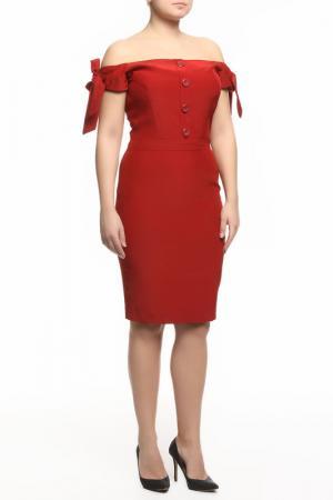Платье Dina Bar-El. Цвет: красный