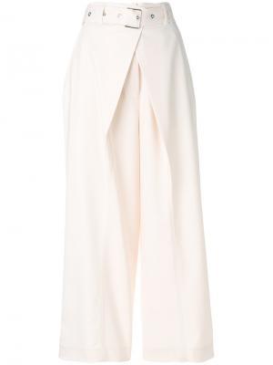 Wrap pleat buckled trousers Proenza Schouler. Цвет: телесный