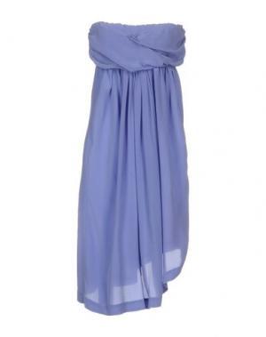 Короткое платье E-GÓ. Цвет: сиреневый