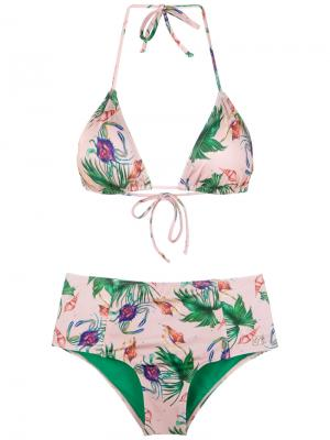 Hot pants bikini set Brigitte. Цвет: розовый и фиолетовый