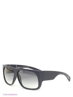Солнцезащитные очки Borsalino. Цвет: темно-синий