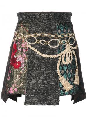 Жаккардовая мини юбка Dolce & Gabbana. Цвет: многоцветный