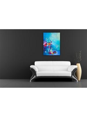 Картина Садовый букет Сирень. Цвет: серо-голубой, светло-голубой, светло-серый