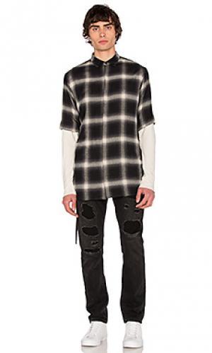 Drawcord s/s shirt Helmut Lang. Цвет: черный