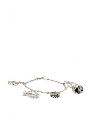 Посеребренный браслет с подвесками в морском стиле And Mary. Цвет: серебряный